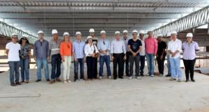 Procuradores em visita a obras do complexo de piscicultura em 2013